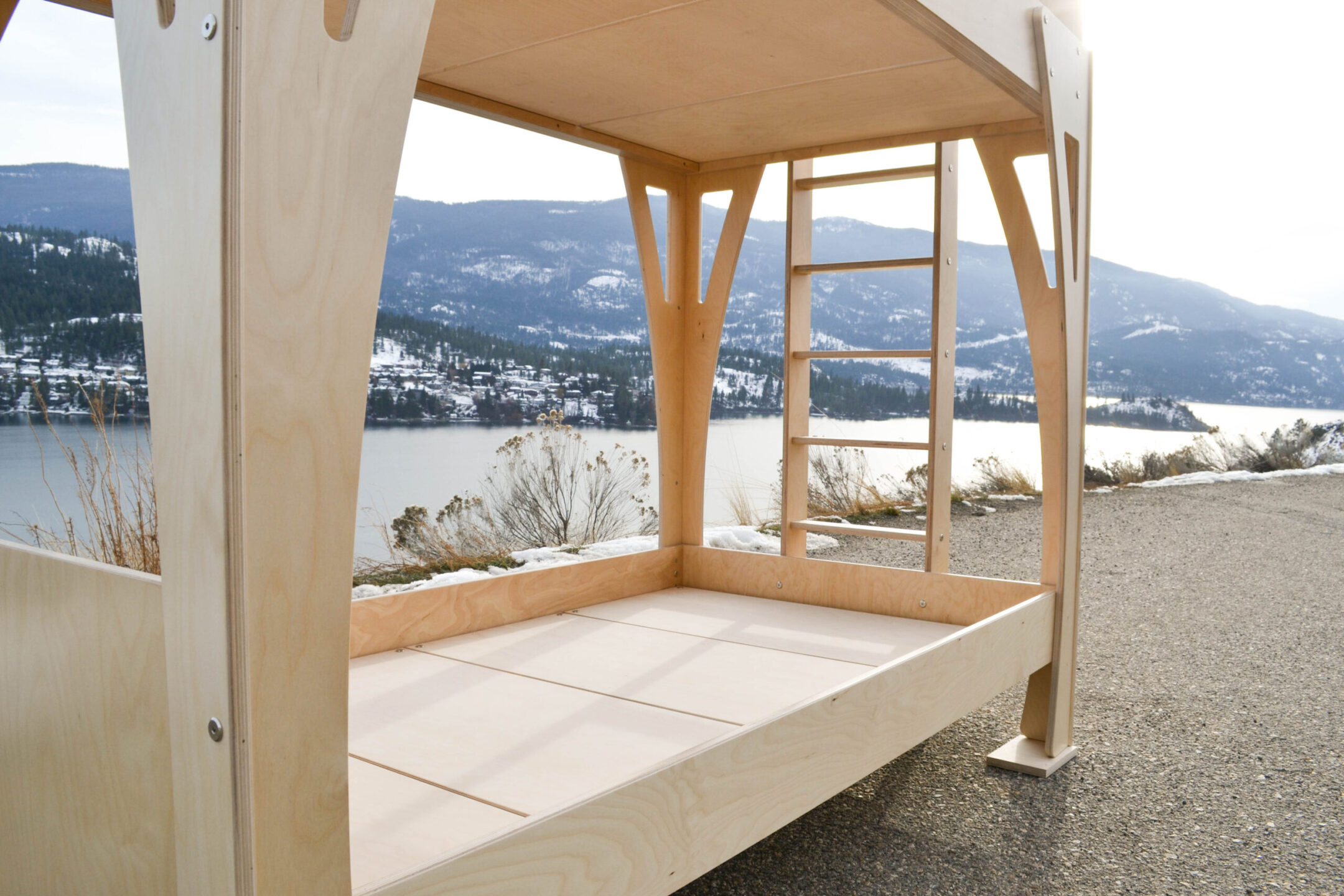 the birch multiply bed looks beautiful in the sunshine