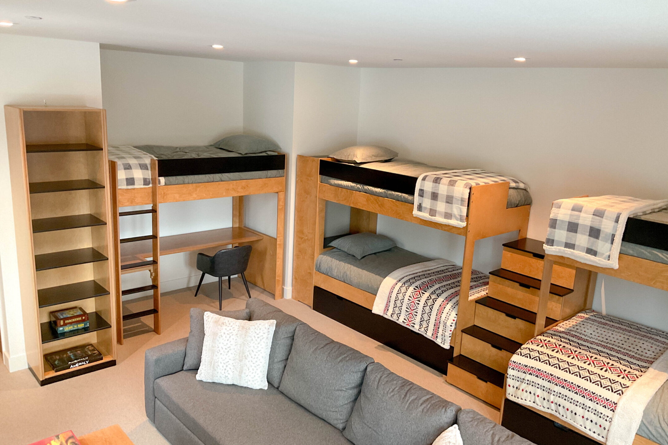 Full view of bunk room
